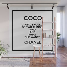 coco quote no. 5 Wall Mural