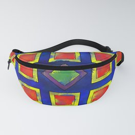 Verhomera - abstract cube worlds Fanny Pack