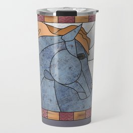 "Mixed Medium ""Stained Glass"" Horse Travel Mug"