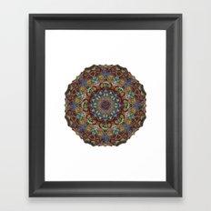 Hallucination Mandala 2 Framed Art Print
