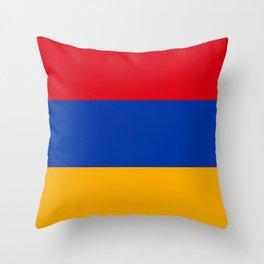 Flag Of Armenia Throw Pillow