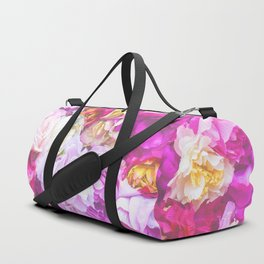 Vintage Bouquet - Pink Purple Duffle Bag