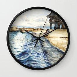 Ocean of Koh Tao island, Thailand Wall Clock