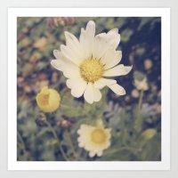 vintage flowers Art Prints featuring Vintage flowers by Herzensdinge