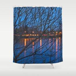 Budding Twilight Spring Shower Curtain