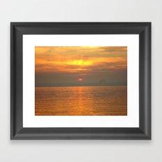 Rovigno Sunset Framed Art Print