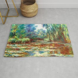 Monet Bridge over a Pond of Water Lilies,1899 Rug