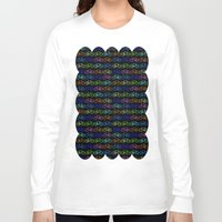 bicycles Long Sleeve T-shirts featuring Colorful Bicycles DARK by MICHELLE MURPHY