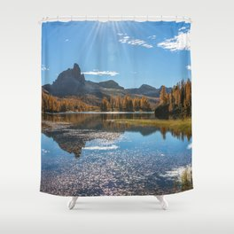 Dolomites 15 - Italy Shower Curtain