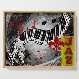 JAZZ PIANO KEYBOARD MUSIC Serving Tray