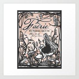 Faerie Garden Art Print