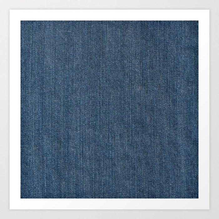 Blue Denim Texture Kunstdrucke