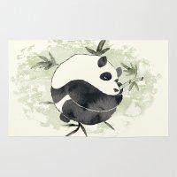 yin yang Area & Throw Rugs featuring Yin Yang by Sah Matsui