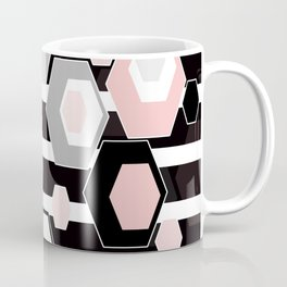 Geometric pattern . Hexagon. 2 Coffee Mug
