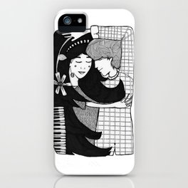 just pretend like you're asleep iPhone Case