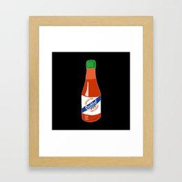 Crystal Hot Sauce Framed Art Print