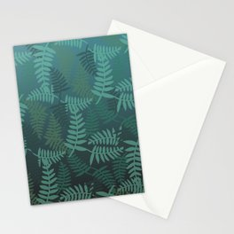 Fern leaves green turquoise pattern #society6 Stationery Cards
