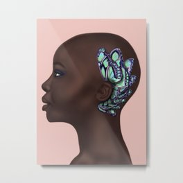 She hears butterflies Metal Print