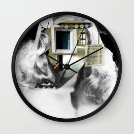 She´s got the look... Collage Wall Clock