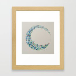 One Wave - Green Framed Art Print