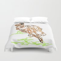 hare Duvet Covers featuring Hare by Simon Boulton