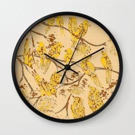 Feathered Friends Batik Wall Clock