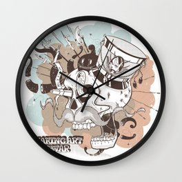 Making Art, not war #B03 Wall Clock