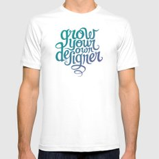 Grow Your Own Designer MEDIUM Mens Fitted Tee White