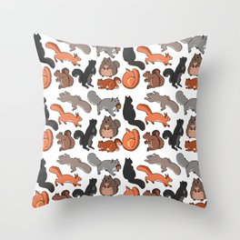 squirrels Throw Pillow