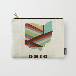 Ohio state map modern Carry-All Pouch