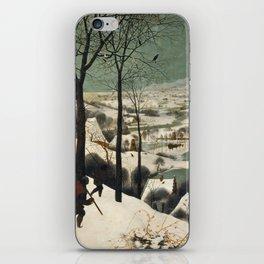Pieter Bruegel The Elder - Hunters In The Snow, Winter iPhone Skin