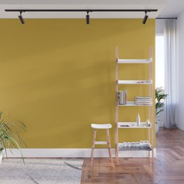 Butterscotch Yellow Solid Color Pairs W/ Sherwin Williams 2020 Color Kingdom Gold SW6698 Wall Mural