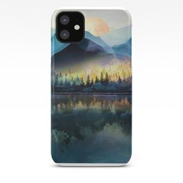 Mountain Lake Under Sunrise iPhone Case
