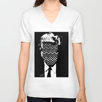 lynch V-neck T-shirts featuring Lynch. by Spazy Art