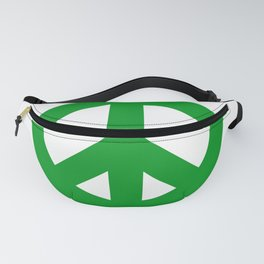 Green Peace Sign, Power of Peace, Power of Love, Social Justice Warrior, Super Sharp PNG Fanny Pack