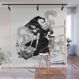 Inktober Witch Wall Mural