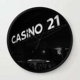 casino 21 Wall Clock