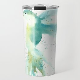 Blue Hummingbird Travel Mug