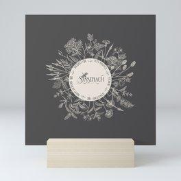 Dear Sassenach in Grey Mini Art Print