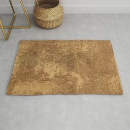 Abstract gold paper Rug