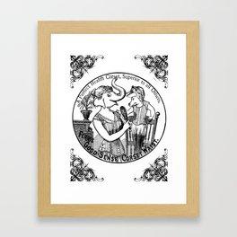 A perfect healt corset  Framed Art Print