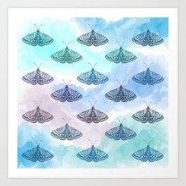 Rainbow Moths Art Print