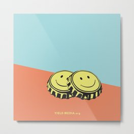 Two Happy Beers Metal Print