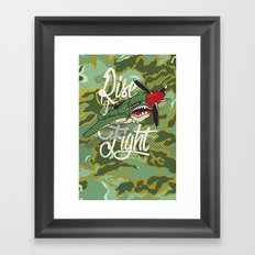 Rise and Fight Framed Art Print