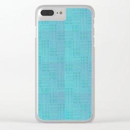 Interpretive Weaving (Scuba Doobie) Clear iPhone Case
