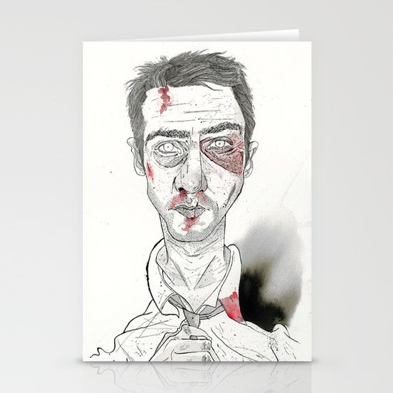 The first rule is- The Narrator Edward Norton Stationery Cards