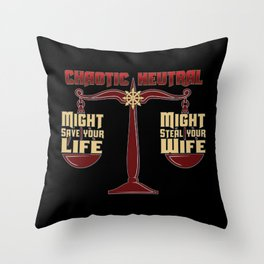 D&D - Chaotic Neutral Throw Pillow