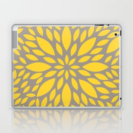 Yellow Flower explosion Laptop & iPad Skin