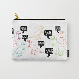 RAWR colorful dinosaurs Carry-All Pouch