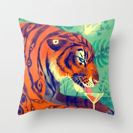 Tiger King Throw Pillow